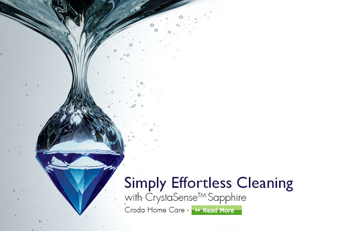 Simply effortless cleaning with crystasense sapphire  croda home care
