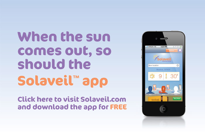 When the sun comes out, so should the solaveil app