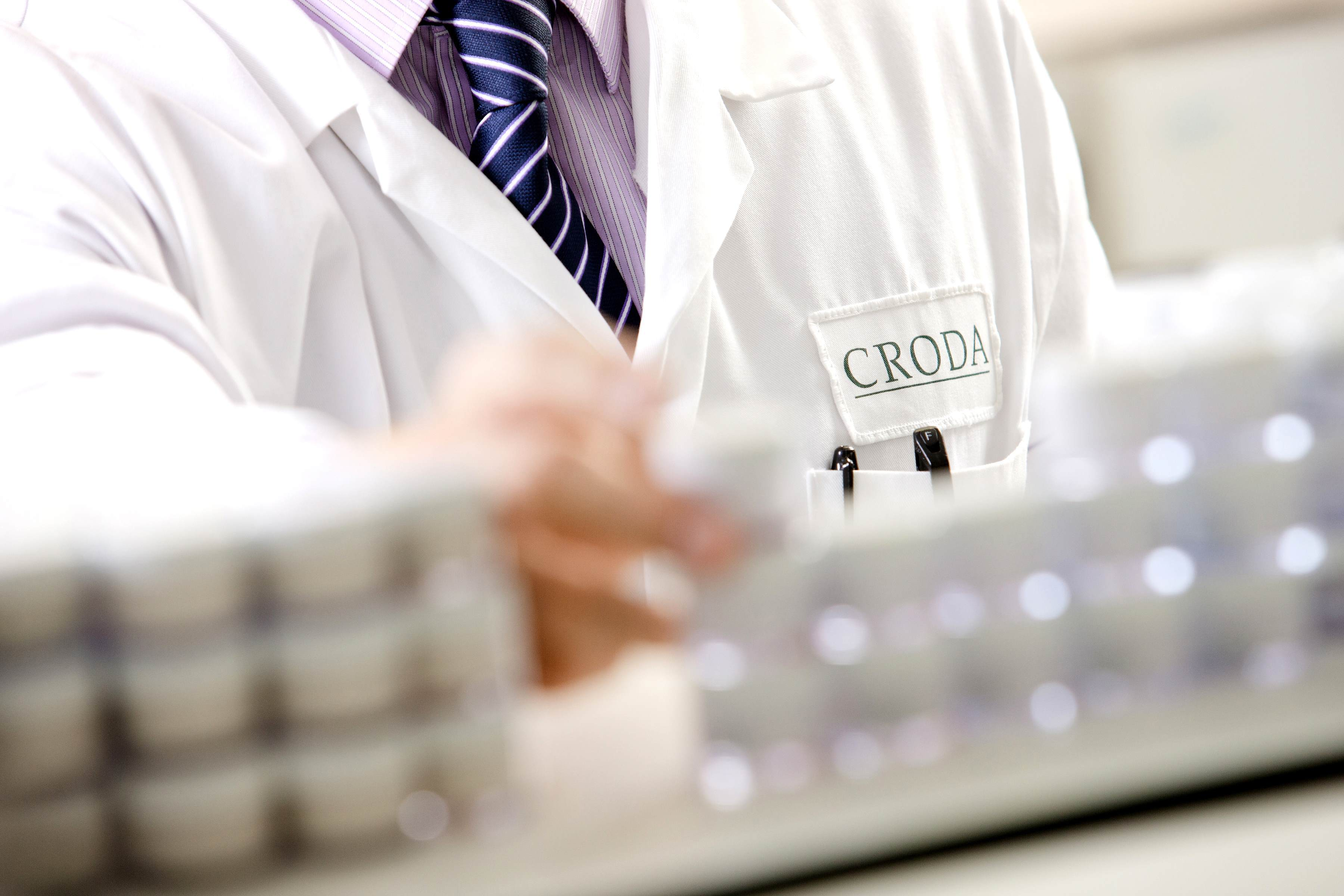 Man working in the lab at Croda
