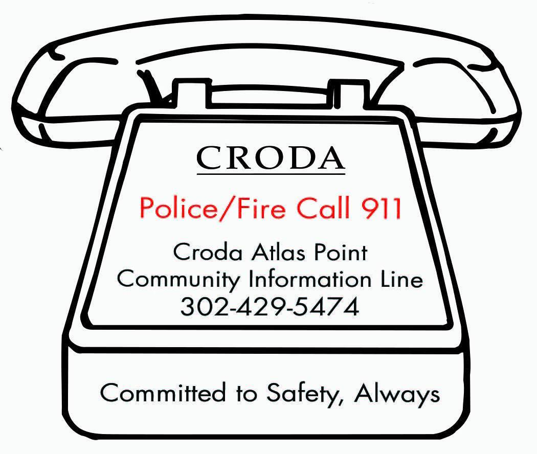 Croda can be reached on their Community Information Line at 302-429-5474