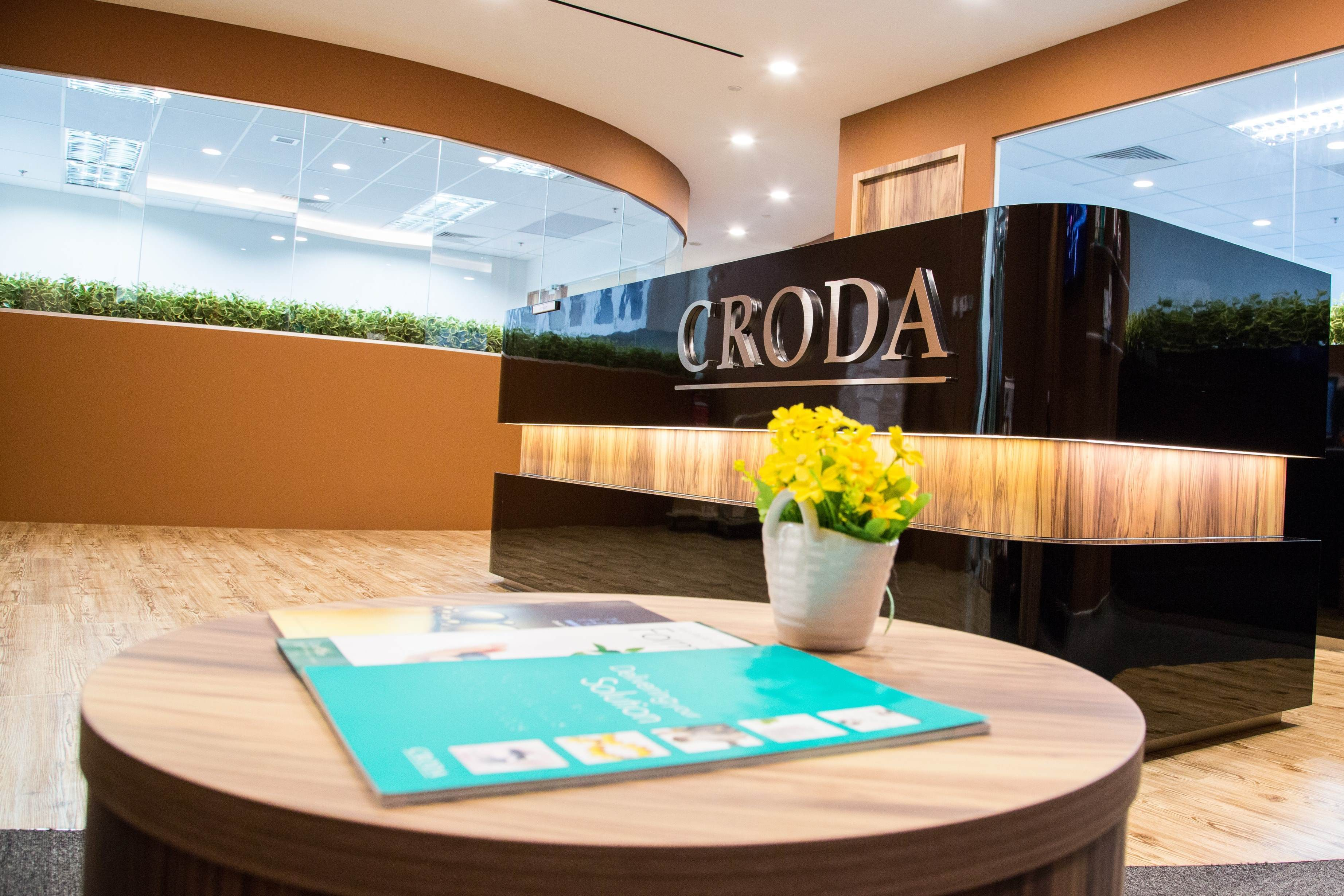 Reception area at Croda office