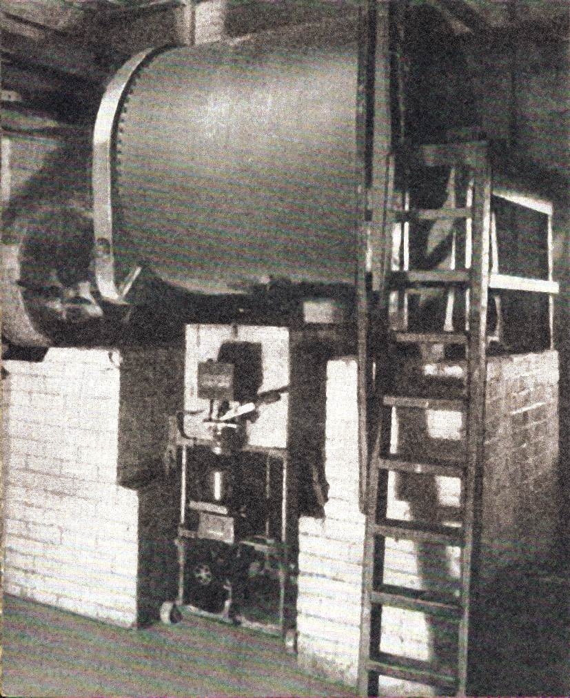 Ball mill producing hydraulic oils, camouflage creams and insect repellent during WW2