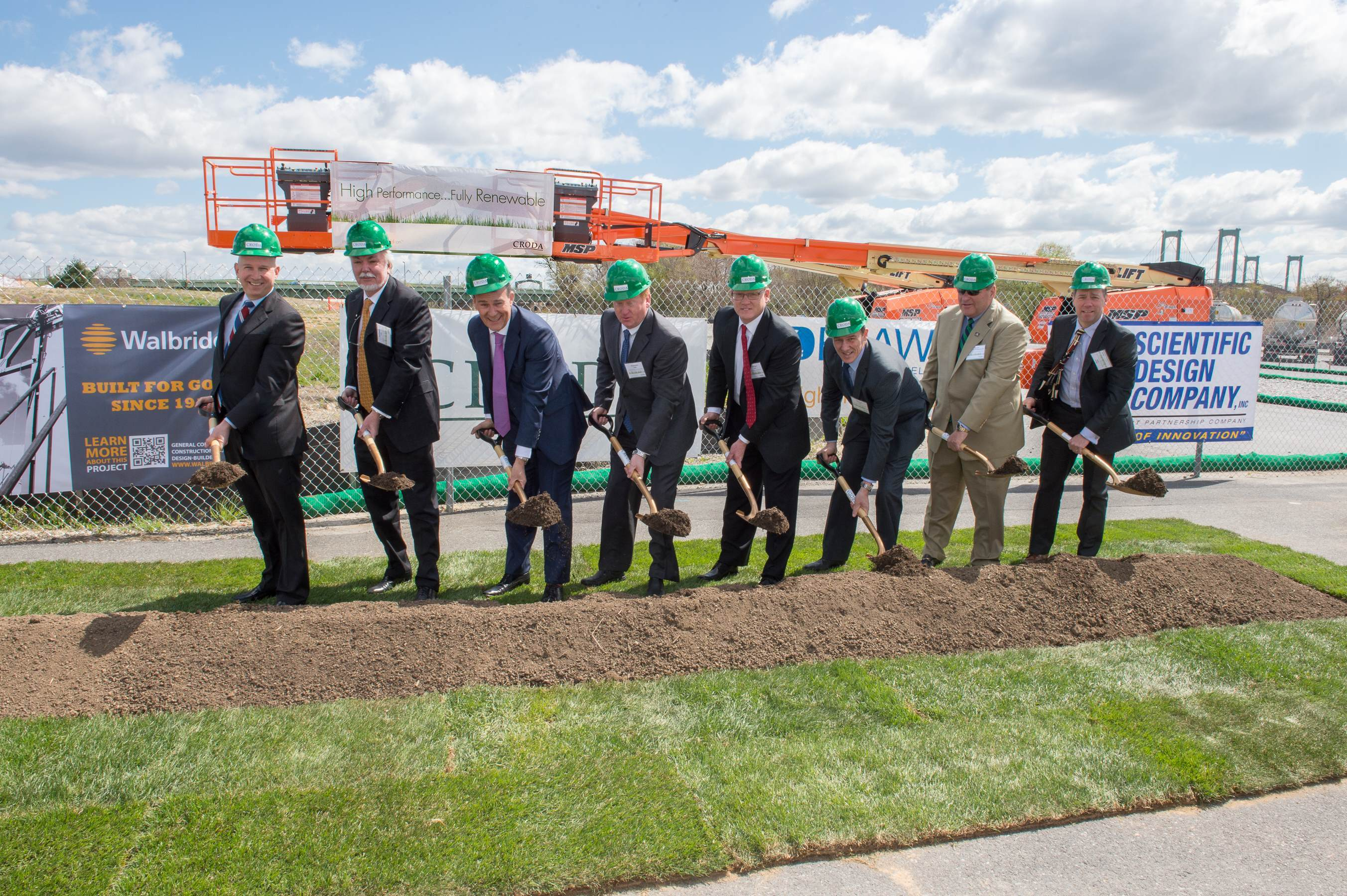 ceremonial groundbreaking on Croda's North American £120m capital investment